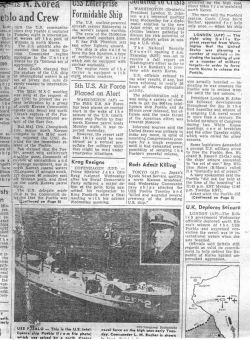 Korea Herald Newspaper Article, January 26, 1968